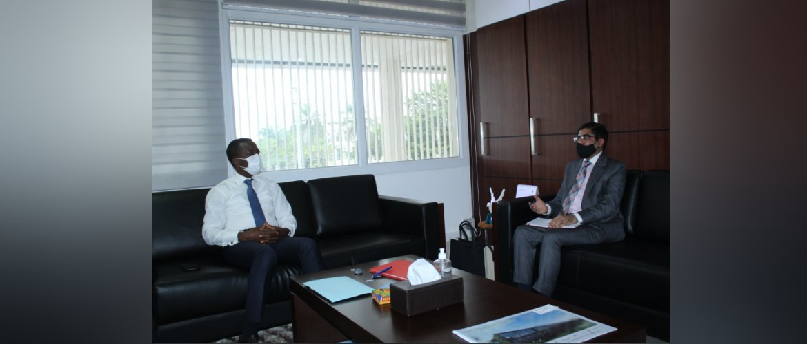 Ambassador met H.E. Mr. Kodjo Adedze, Minister of Commerce, Industry & Local Consumption and discussed ways to further expand bilateral trade & investment partnership. Minister thanked India for ITEC partnership in capacity building of Togolese nationals.