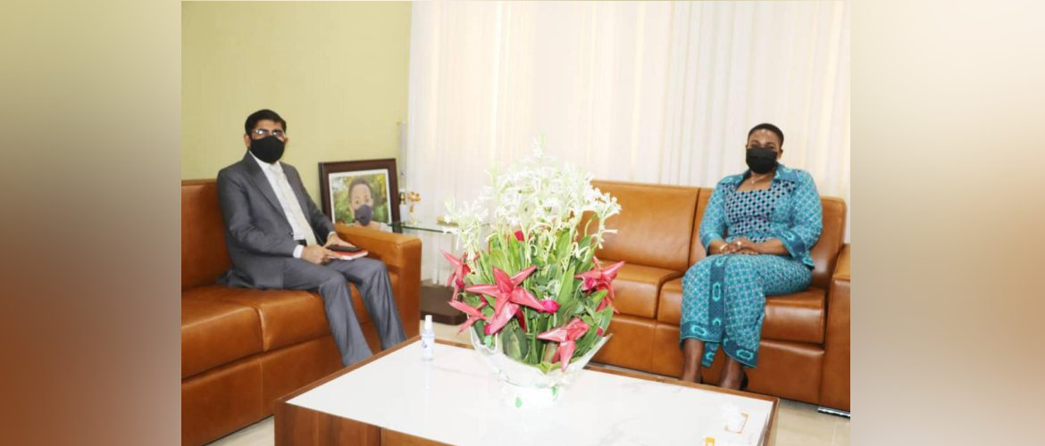 Ambassador  Called on Hon'ble Minister of Defence of Togo  Essossimna GNAKADE  and discussed matters of mutual cooperation.