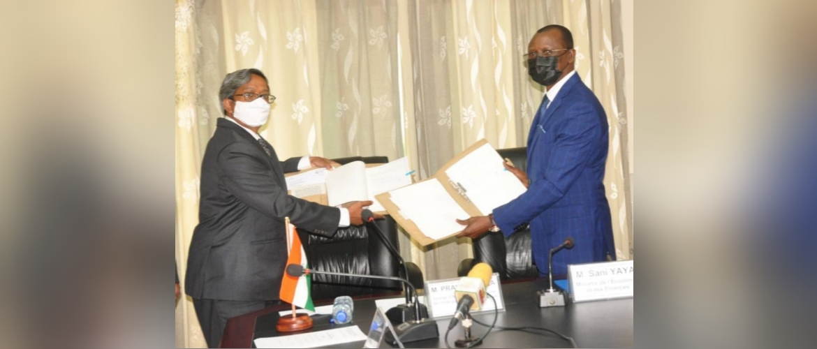 Government of India-supported $40 million Line of Credit Agreement signed in Lome on 23 June 2021 between EXIM Bank of India representative and Minister of Economy and Finance of Togo in the presence of Minister of Energy and Mines of Togo and Embassy of India representative. The project to support electrification of 350 villages in Togo through solar photo-voltaic system.